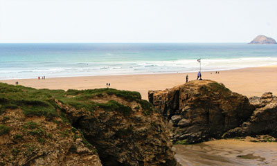 Surfing Lessons on Perranporth Beach