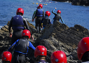 Coasteering in Newquay: Coasteering the Smuggler's Coves