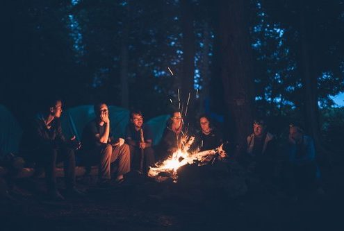friends-camping